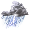 Weather Icon: búrky